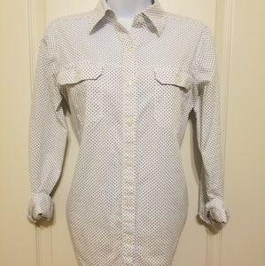 Long sleeve blouse poke a dots